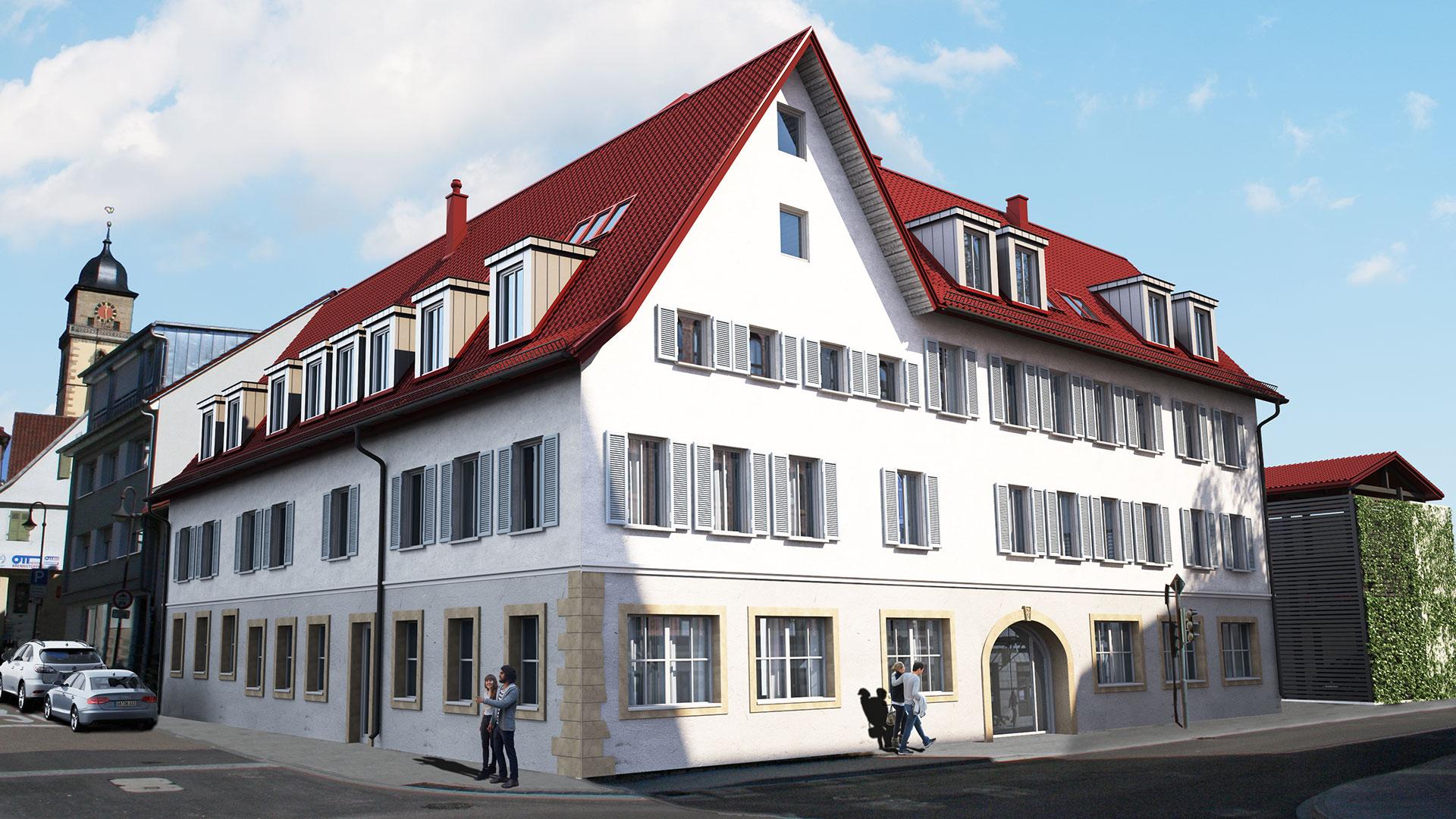Ansicht Haupthaus PO1